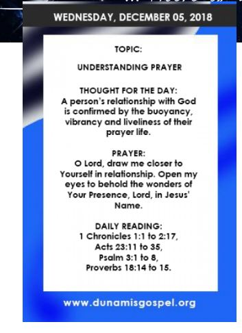 SEEDS OF DESTINY DAILY DEVOTIONAL BY DR. PASTOR PAUL