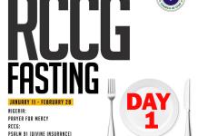 Day 1 RCCG 2019 Fasting Prayer Points
