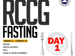 Day 1 RCCG 2019 Fasting Prayer Points