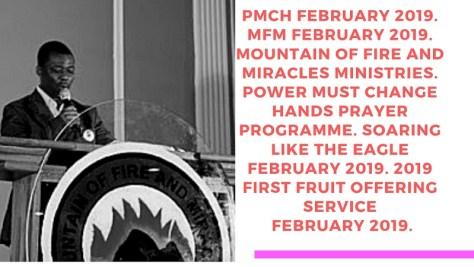 PMCH February 2019 Prayer Programme