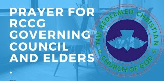 Prayer For RCCG Governing Council And Elders.