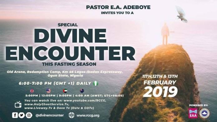 RCCG Special Divine Encounter with Pastor E.A. Adeboye.