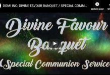 David OyedepoDIVINE FAVOUR BANQUET
