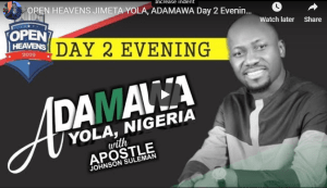 JIMETA YOLA ADAMAWA Day 2 Evening With Apostle Johnson Suleman