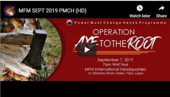 mfm September power must change hands prayers