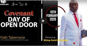 David Oyedepo COVENANT DAY OF OPEN DOOR