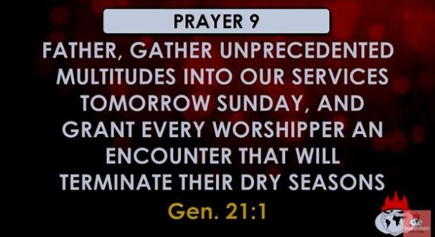prayer point 9 covenant hour of prayer