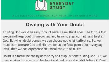 Dealing with Your Doubt