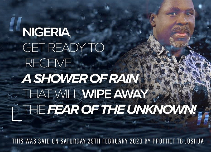 MESSAGE FROM PROPHET TB JOSHUA
