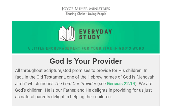 God Is Your Provider By Joyce Meyer