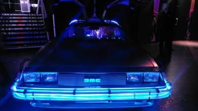 Back to the Future DeLorean close-up vooraanzicht