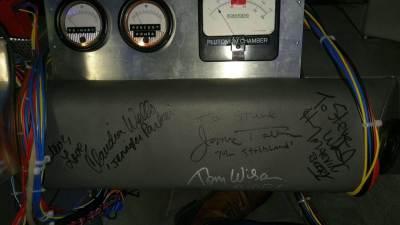 Back to the Future DeLorean handtekeningen van de filmcrew