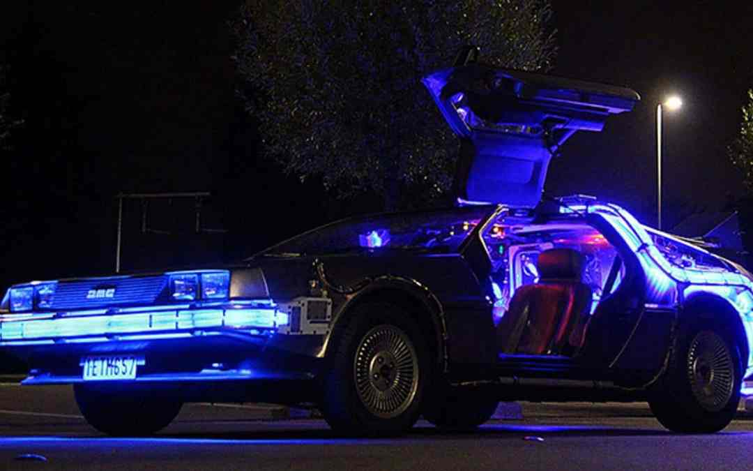 Back to the Future DeLorean for events