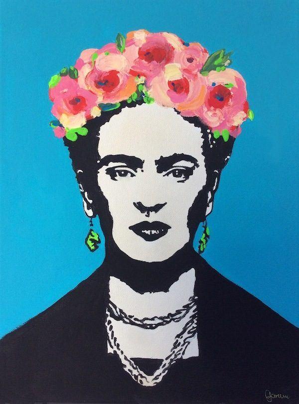 Schilder workshop organiseren als bedrijfsuitje of teambuilding-Designkeuze-Frida_Kahlo_Collage