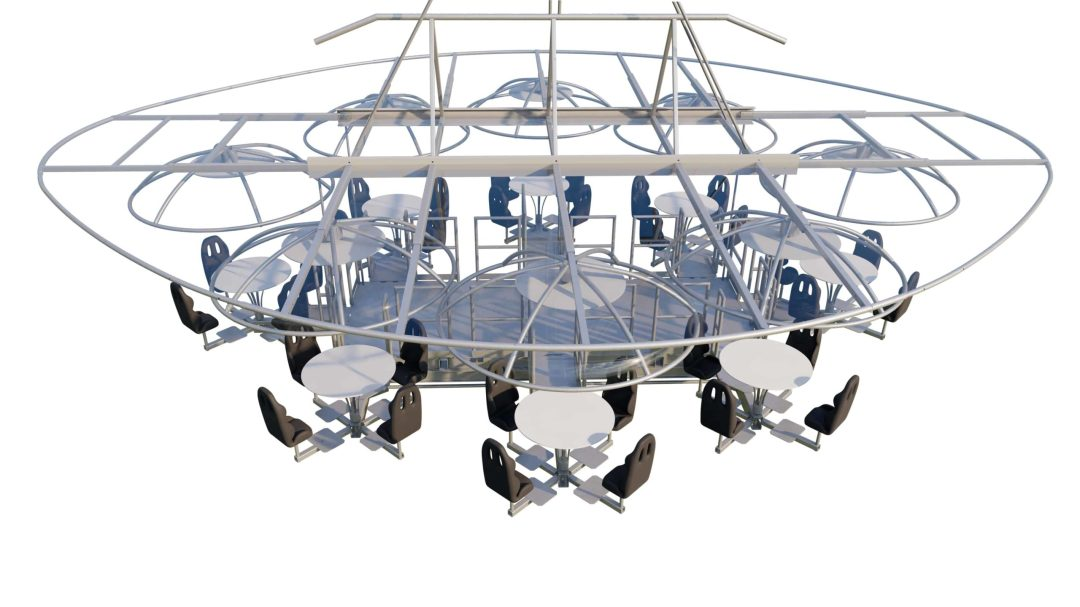 Lounge in the Sky Event in Amsterdam 28 augustus 2020 blanco