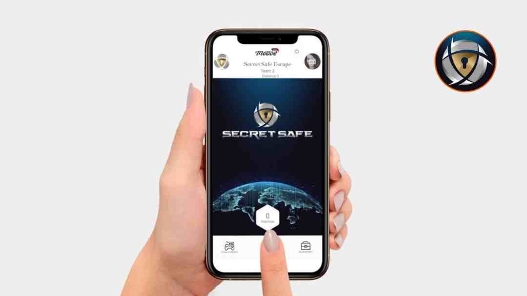 Secret Safe Virtuele teambuilding activiteit spelen op smartphone en tablet