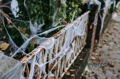 Halloweenfeest met enge decoratie