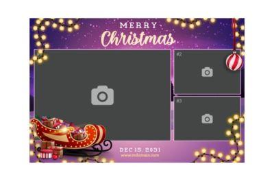 Bedrijfsfeest, Personeelsfeest, Kerst, Fotobooth huren, fotocollage paars thema 5