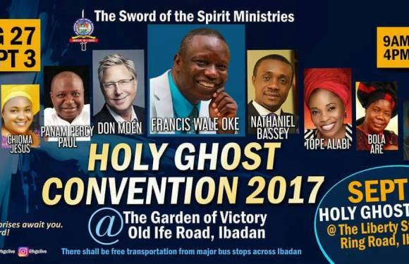 Event: The Sword of Spirit Ministries Presents Holy Ghost Convention 2017 Feat. Don Moen, Frank Edwards, Panam Percy Paul & Many More [Kicks Off August 27th – Sept 3rd]
