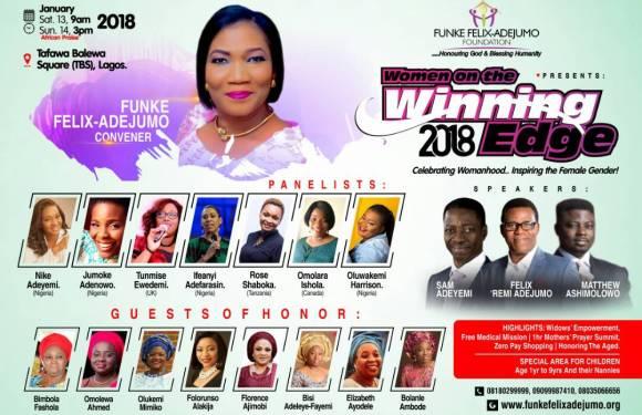 Funke Felix Adejumo to host Winning Edge Conference 2018