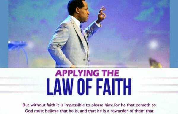 #Devotional : Applying The Law Of Faith –