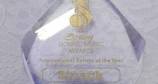 "Award winning artiste Sinach has been announced as the winner ""international artiste of the year' ' for the 2018 Sterling award award "" , A Big Congratulations to her"
