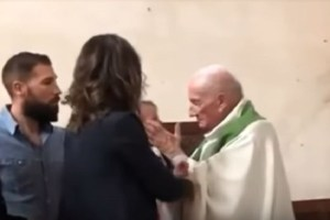 Angry priest fired