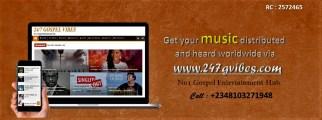 promote your gospel songs online via 247gvibes.com