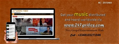 promote your gospel songs online via 247gvibes.com
