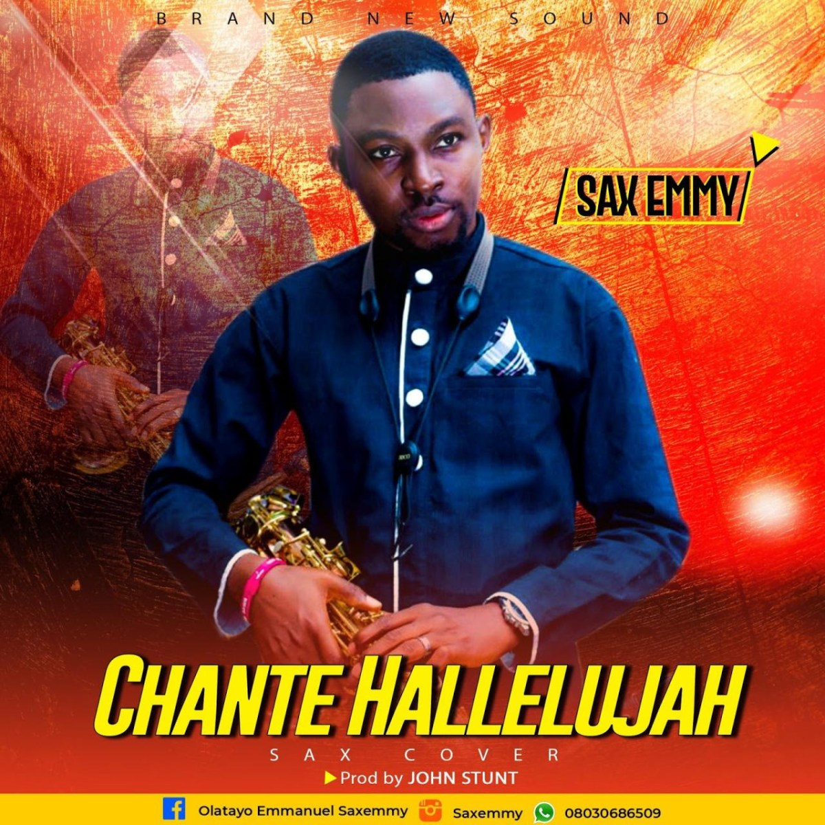New Music : Saxemmy - Chante Hallelujah (Sax Cover) | Originally By Ajuju