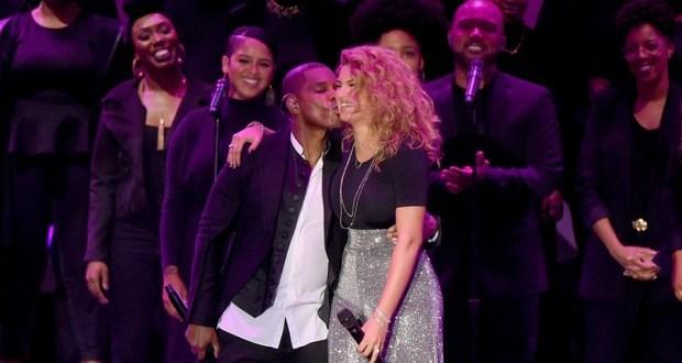 """Gospel Artiste """"Tori Kelly"""" Wins Two (2) Gospel Grammys, Thanks Her 'Hero' Producer Kirk Franklin"""