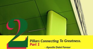 Article : The 2 Pillars Connecting To Greatness - Apostle Favour Daini
