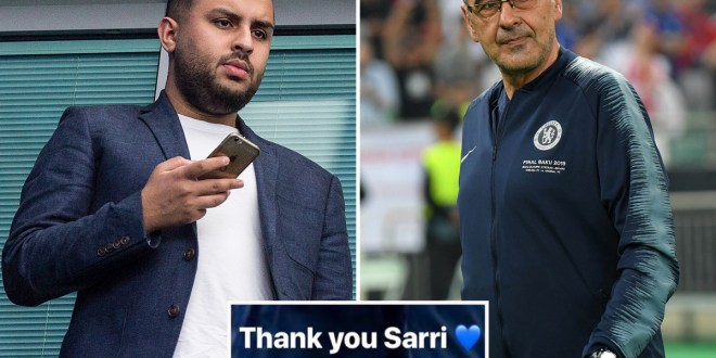 Chelsea shareholder Hasan Nagoor appears to confirm Maurizio Sarri's exit on Instagram – The Sun