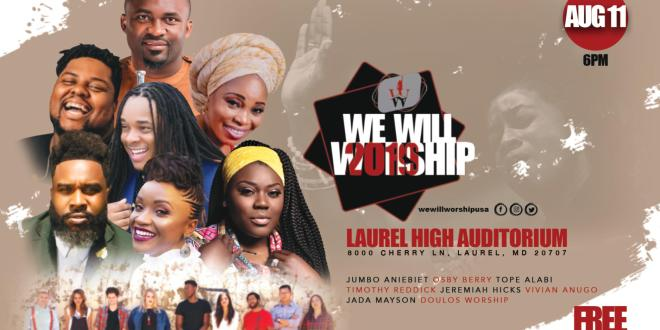Event : Livin' It Out Presents 'We Will Worship 2019' Feat. Jumbo Aniebiet, Timothy Reddick & More