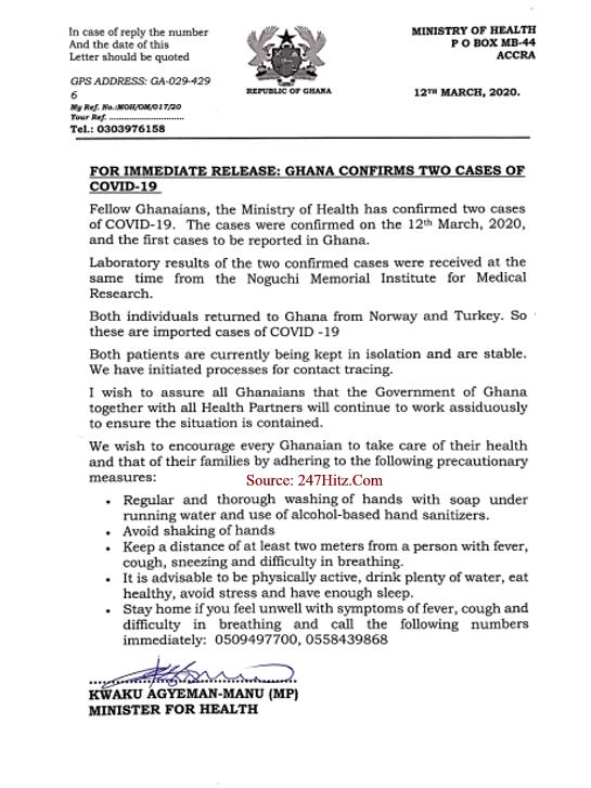 Corona Virus Cases Recorded In Ghana?