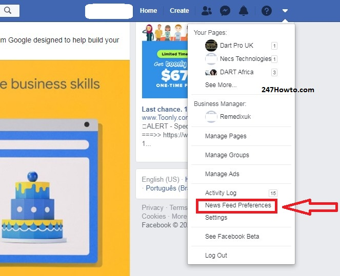 Why is my Facebook not updating - newsfeed preferences