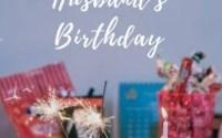 How To Celebrate Husband Birthday