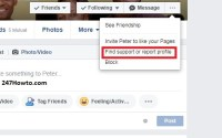 How can i report someone on Facebook