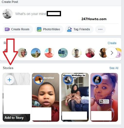 How to find Facebook stories