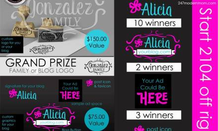 24/7 Modern Mom™ 1st Anniversary 24 PRIZE Blogger Giveaway: Graphic Design