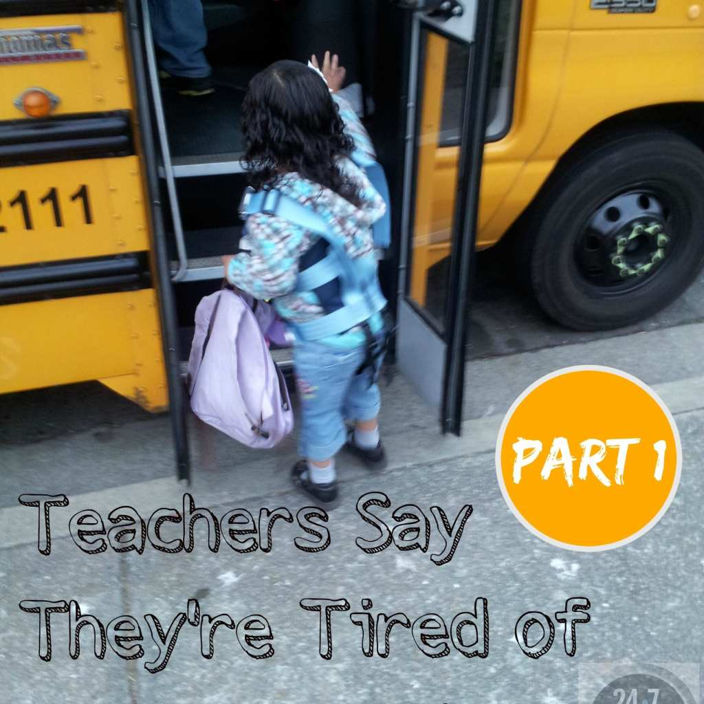 Teachers Say They're Tired Of Being Blamed: Part I
