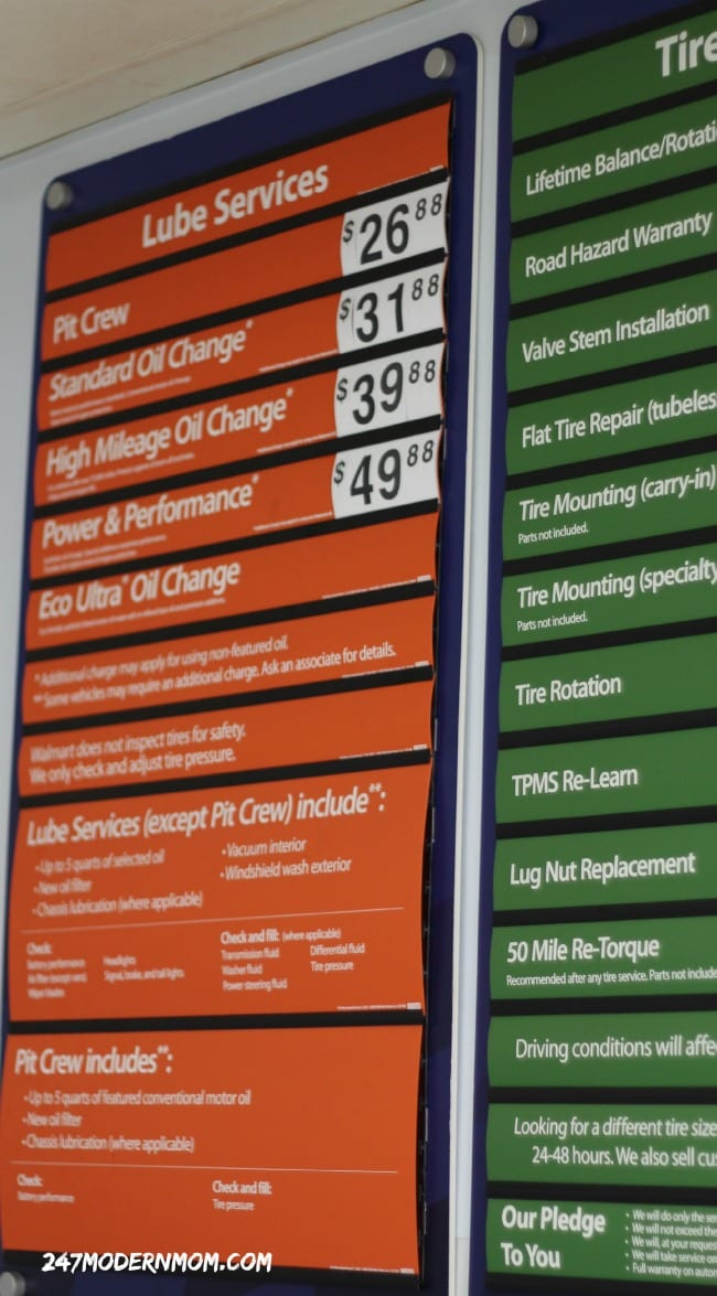 Walmart Oil Change Price >> Oil Change Prices Ad Collective Bias 24 7 Modern Mom