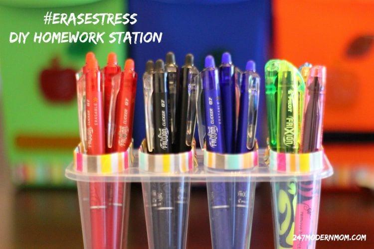 Erase Stress With This DIY Homework Station + Reading Log Printable
