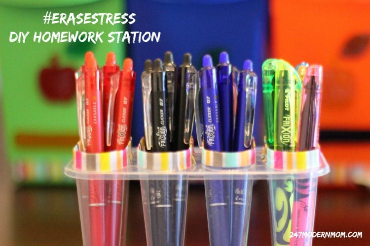 Erase Stress With This DIY Homework Station + Reading Log Printable