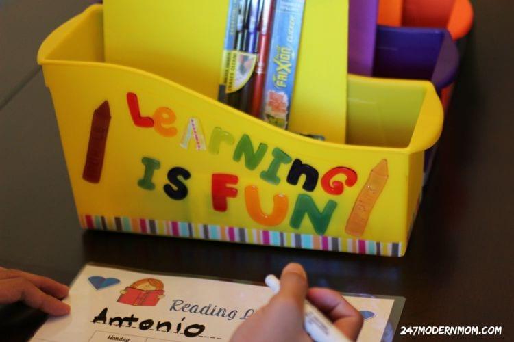 Homework-station-reading-log-table-ad