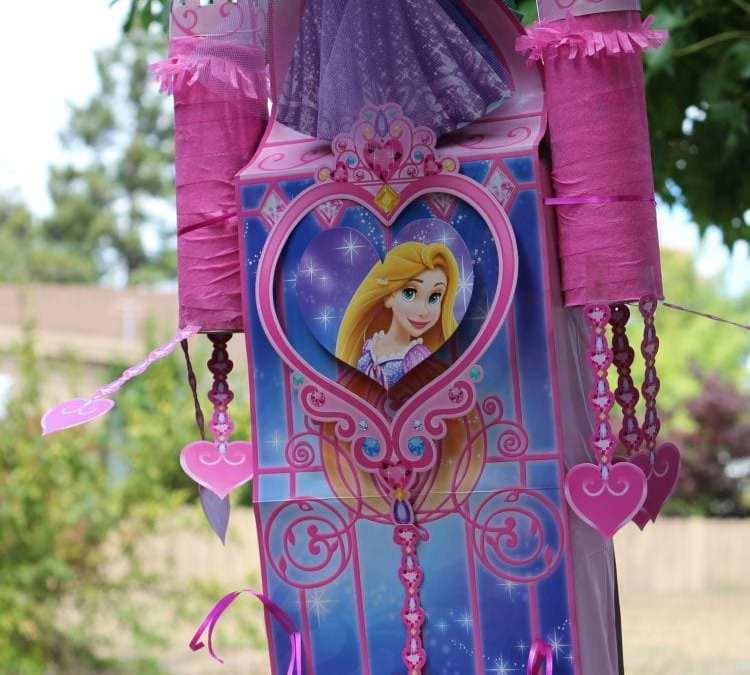 Disney Princess Birthday: DIY Castle Tutorial + Piñata Style Treats Storage