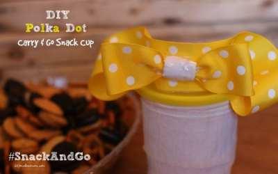 DIY Polka Dot Carry & Go Snack Cup + Polka Dot Dessert: Loaded Go-Paks!