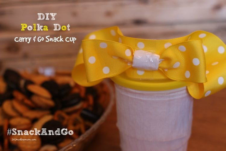 DIY Polka Dot Carry & Go Snack Cup + Polka Dot Dessert: Loaded Go-Paks!