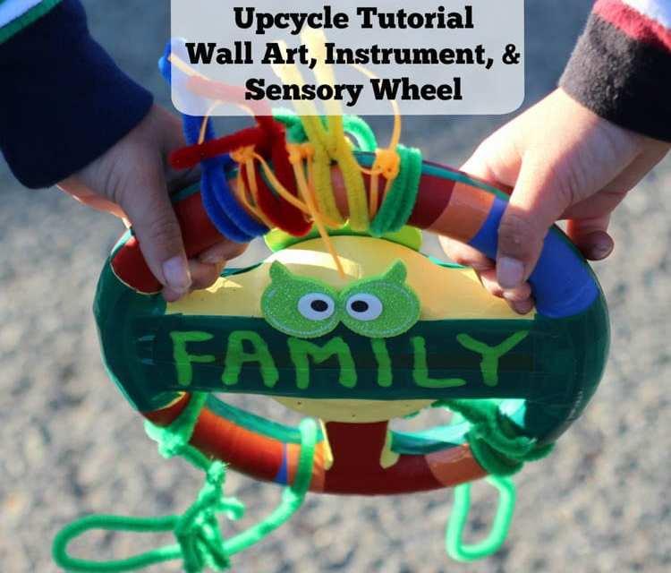 Innovative 3-in-1 DIY Upcycle Tutorial: Wall Art, Instrument, & Sensory Wheel