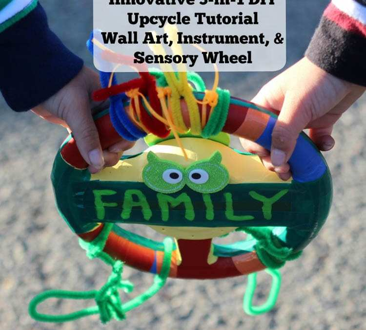 Innovative 3-in-1 DIY Upcycle Tutorial: Wall Art, Instrument, & Sensory Wheel